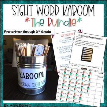 KABOOM Sight Words Preprimer-3rd Grade BUNDLE
