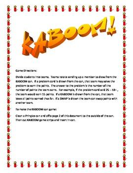 KABOOM! basic fact multiplication game