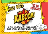"Sight Word sentence Card Game ""KABOOM!"" - 1st 100 Fry words"