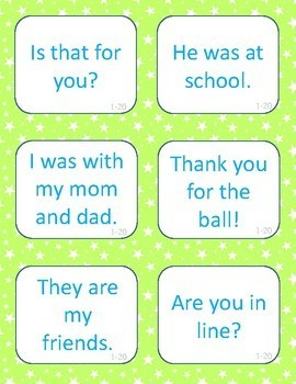"""Sight Word sentence Card Game """"KABOOM!"""" - 1st 100 Fry words"""
