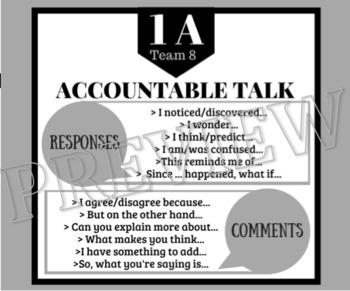 KAGAN + ACCOUNTABLE TALK **Desk Tags**