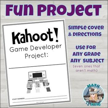 KAHOOT Game Developer Designer Creator Project Enrichment Extension FREEBIE