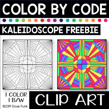 KALEIDOSCOPE Designs Color by Code Clip Art FREEBIE