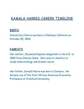 KAMALA HARRIS CAREER TIMELINE  TO THE U.S. SENATE