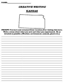 KANSAS CREATIVE WRITING  DIFFERENTIATED WORKSHEET