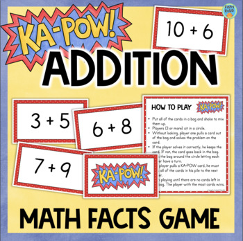 Addition Game for Fact Fluency