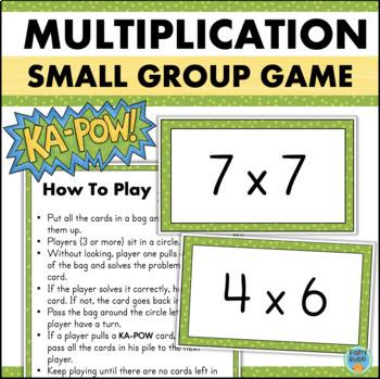 Multiplication Game for Fact Fluency