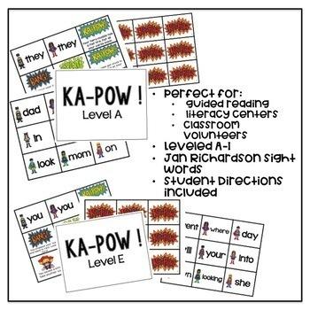 KAPOW! Sight Word Game Leveled A-I