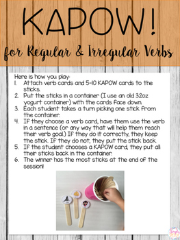 KAPOW! for Regular & Irregular Verbs