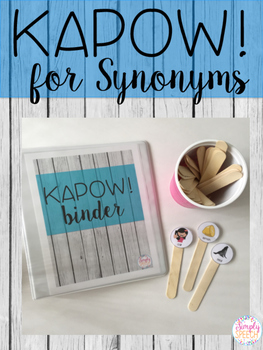 KAPOW! for Synonyms