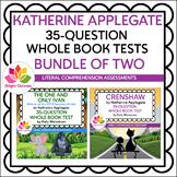 KATHERINE APPLEGATE   35-QUESTION WHOLE BOOK TESTS   BUNDL