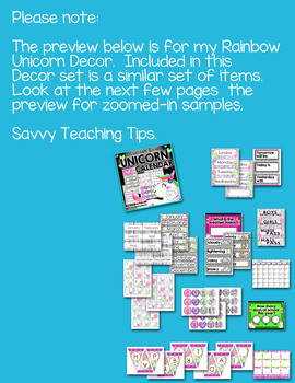 KAWAII CACTUS Complete Calendar   Back to School Classroom Decor