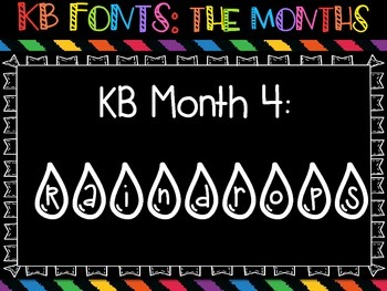 KB Fonts Mini Collection: The Months {12 Seasonal Themed Fonts}