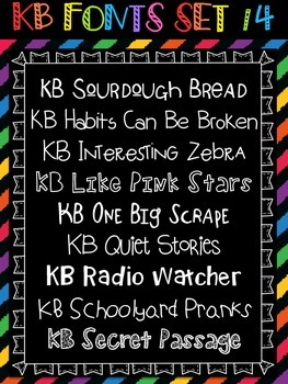 KB Fonts - Personal or Commercial Use: CHOOSE ANY 5 FONTS {from any of my sets}