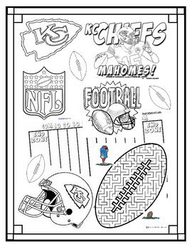 It's just a picture of Revered Kc Chiefs Football Coloring Pages