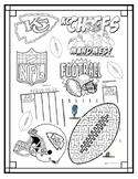KC Chiefs Coloring Page (Kansas City football - Mahomes)