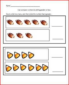 K.CC Counting and Comparing Practice Pages
