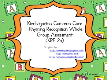 KCC Rhyming Whole Group Assessment (KRF 2a)