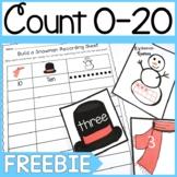 K.CC.3 Snowman Counting 0-20 FREEBIE