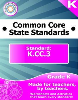 K.CC.3 Kindergarten Common Core Bundle - Worksheet, Activity, Poster, Assessment