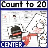 Kindergarten Number Recognition 0-20 Snowman Math Center