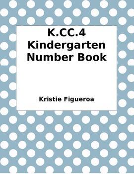 K.CC.4 Kindergarten Number Book