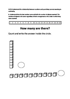 "K.CC.4b ""How many are there?"" Count and tell the number of objects."