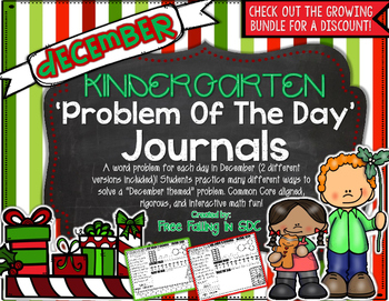 KDG Problem of the Day-DECEMBER (daily word problem practice)
