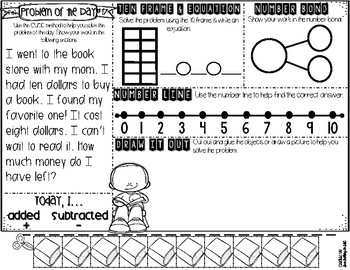 KDG Problem of the Day-FEBRUARY (daily word problem practice)