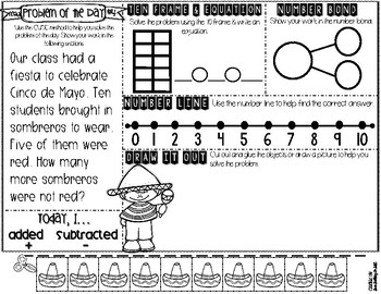 KDG Problem of the Day-MAY (daily word problem practice)