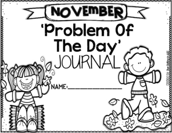 KDG Problem of the Day-NOVEMBER (daily word problem practice)