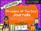 KDG Problem of the Day-OCTOBER (daily word problem practice)