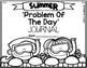 KDG Problem of the Day-SUMMER (daily word problem practice)