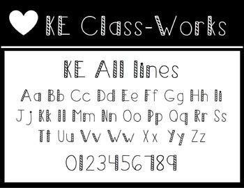 KE Fonts- All Lines
