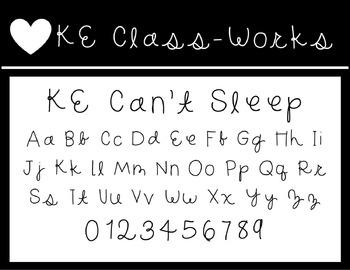 KE Fonts- Can't Sleep