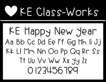 KE Fonts- Happy New Year