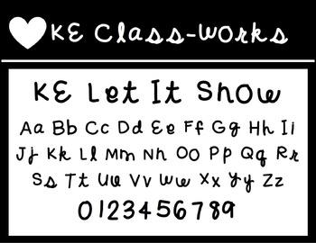KE Fonts- Let It Snow