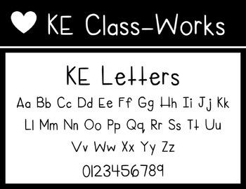 KE Fonts- Letters