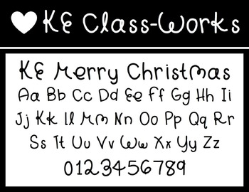 KE Fonts- Merry Christmas