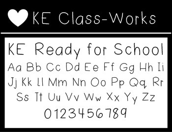 KE Fonts- Ready for School