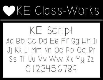KE Fonts- Script