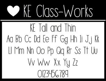 KE Fonts- Tall and Thin