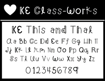 KE Fonts- This and That