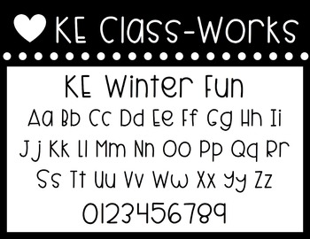 KE Fonts- Winter Fun