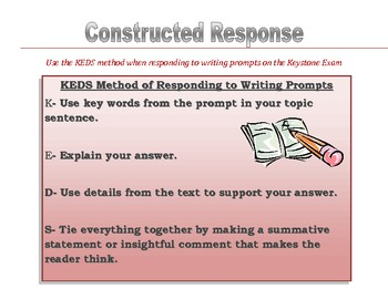 KEDS Method of Constructed Response