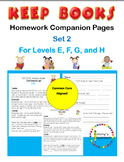 KEEP BOOKS Homework Companion Pages Set 2 for Levels E, F, G, H