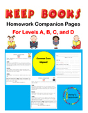 KEEP BOOKS Homework Companion Pages for Levels A, B, C, and D