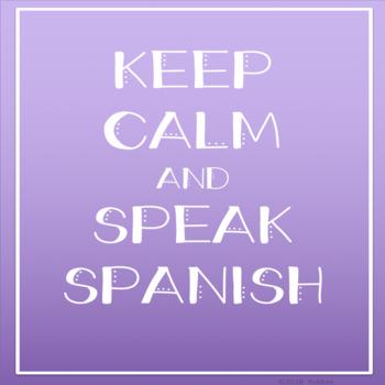 KEEP CALM AND SPEAK SPANISH {FREEBIE}