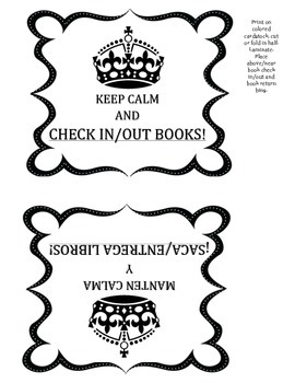 KEEP CALM Book Signs English/Spanish