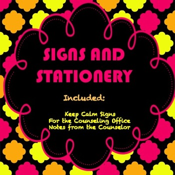 KEEP CALM NEON SIGNS AND STATIONERY FOR COUNSELORS